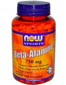 NOW Beta Alanine 750мг 120капс
