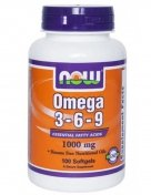 NOW Omega 3-6-9 1000мг 100гел.капс